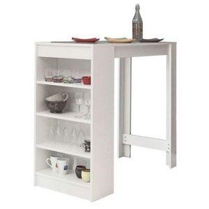 WHITE LABEL - table de bar dolar blanche - Tavolino Alto