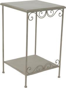 Amadeus - petit meuble d'appoint métal et bois megeve - Tavolino Di Servizio
