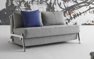 INNOVATION - canapé lit design cubed gris convertible 200*140 - Divano Letto Con Apertura A Scorrimento