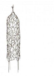 Demeure et Jardin - obelisque pour plantes grimpantes en fer forgé - Obelisco Da Giardino
