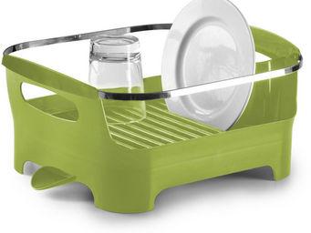 Umbra - egouttoir à vaisselle vert avec bec de drainage am - Scolapiatti