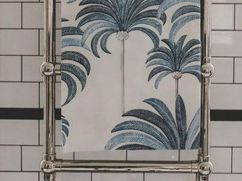 THEVENON - la palmeraie bleu - Tessuto D'arredamento