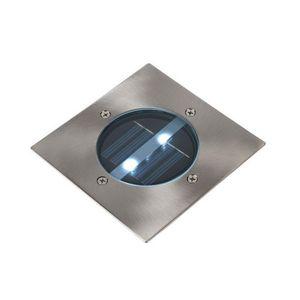 LUCIDE - spot extérieur encastrable carré solar led ip44 - Faretto / Spot Da Incasso Per Pavimento