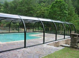 Abri piscine POOLABRI - haut fixe - Copertura Bassa Motorizzata Per Piscina