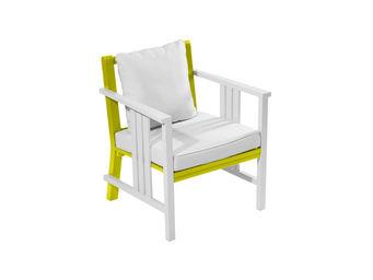 City Green - fauteuil de jardin bas + coussins burano - 67 x 63 - Poltrona Da Giardino