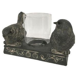 CHEMIN DE CAMPAGNE - bougeoir photophore oiseau à bougie chauffe plat 1 - Bicchiere Portacandela