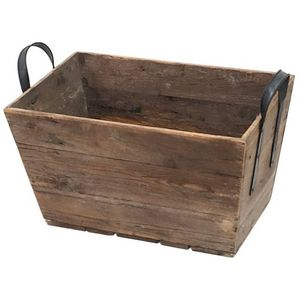 CHEMIN DE CAMPAGNE - casier panier caisse en bois 55x28x32 cm -