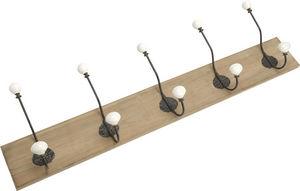 Amadeus - patère bois avec crochets en métal cesar 5 crochet - Appendiabiti Da Parete
