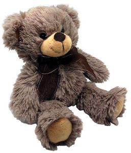 Aubry-Gaspard - peluche ours en acrylique gris foncé - Peluche