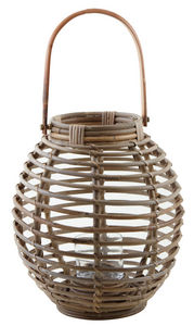 Aubry-Gaspard - lanterne en rotin et verre - Lanterna Da Esterno