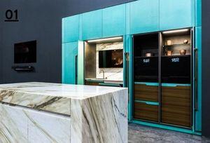 TONCELLI CUCINE - blue tiffany - Cucina Componibile / Attrezzata