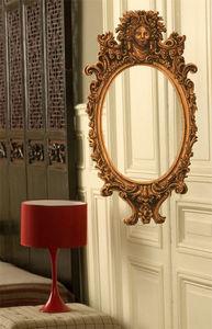 exquise / esquisse - ovale baroque en bois - Sticker