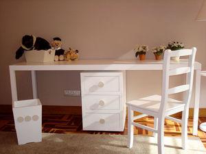 GRIS ALBA DECORACION - mesa estudio florida grande - Scrivania Bambino