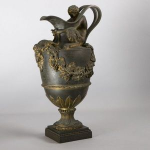 Expertissim - aiguière en bronze xixème - Acquamanile