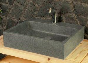 LIVING'ROC - lavabo en pierre (granit) alpha - Lavabo / Lavandino