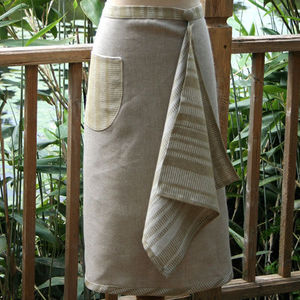 The Linen Shop - apron with hand towel - resin - Grembiule Da Cucina