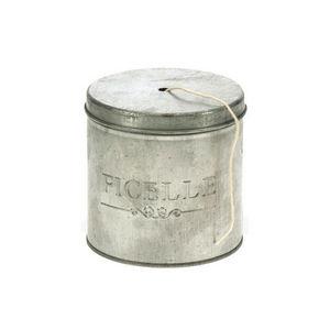 WHITE LABEL - boîte à ficelle en zinc ultra pratique - Contenitore / Barattolo