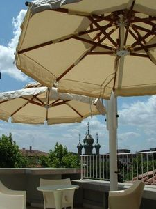 Edengarden - gemelli steel - Ombrellone Con Braccio Laterale
