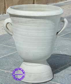 HAYDAR POTTERY - vase à pied - Vaso A Coppa Da Giardino