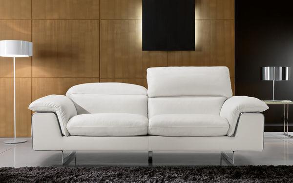 Gray - Divano 2 posti - Bianco - Cuoio - MAX DIVANI | Decofinder