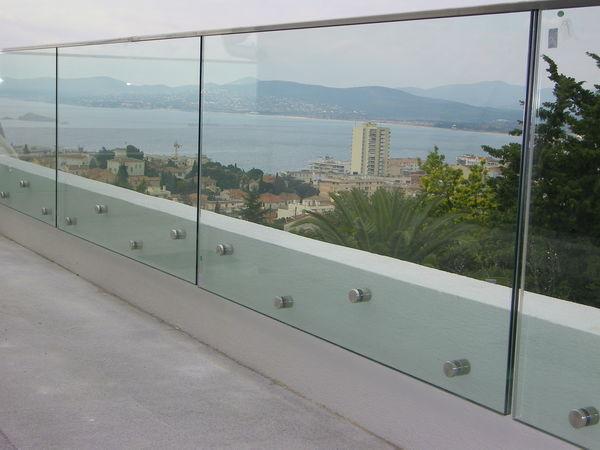 TRESCALINI - Parapetto-TRESCALINI-Glassy : garde-corps verre
