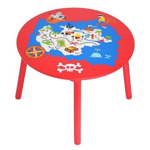 La Chaise Longue - Tavolo da gioco per bambino-La Chaise Longue-Table pour enfant pirates en bois 60x43,5cm