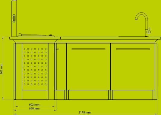 NOBLINOX - Cucina per esterni-NOBLINOX-Cuisine d'angle / Personnalisable