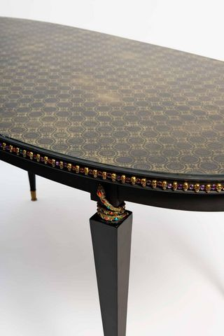 RELOADED DESIGN - Tavolo da pranzo ovale-RELOADED DESIGN-ToBeOrNotToBe - Unique Piece